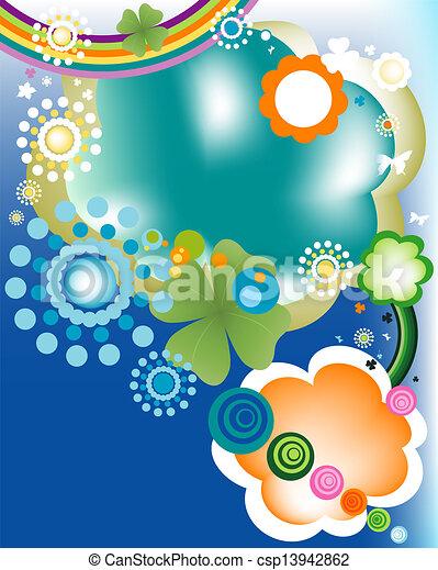 abstract colorful joyful springtime - csp13942862