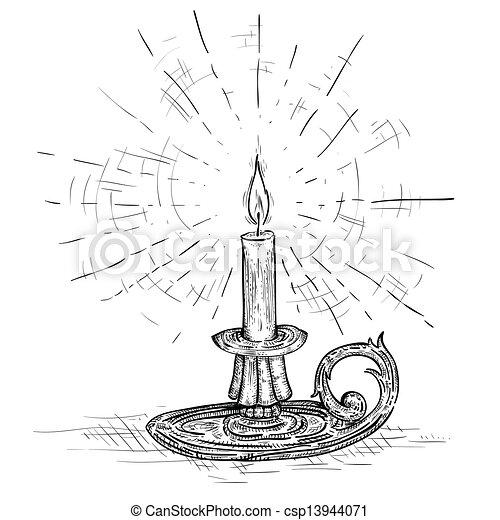 蜡烛简笔画手绘