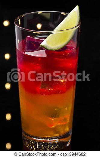 Tequila Sunrise cocktail - csp13944602