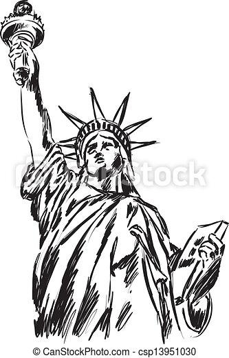 Vectors of Statue of Liberty illustration csp13951030 - Search ...
