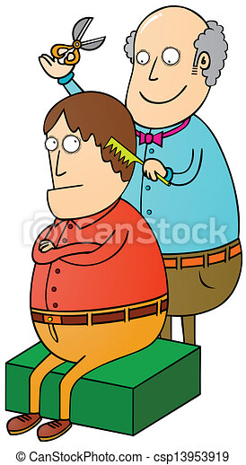 Vector Clip Art of barber csp13953919 - Search Clipart, Illustration ...