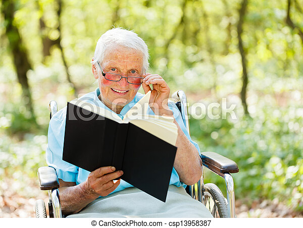 Storyteller Elderly - csp13958387