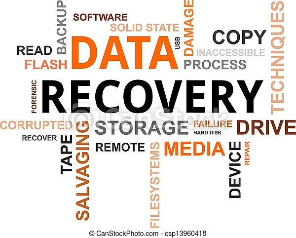 word cloud - data recovery - csp13960418