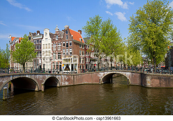 bridges of canal ring, Amsterdam - csp13961663