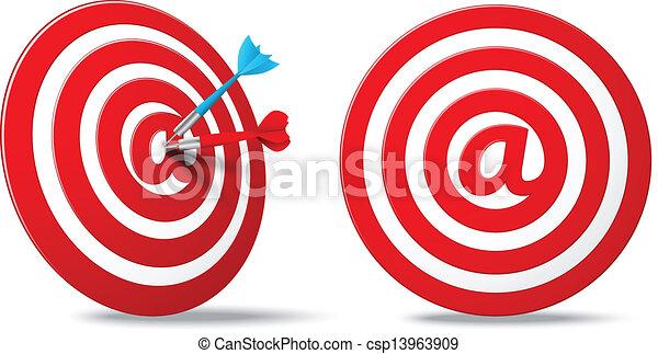 Aim Target Logo Media Red Darts Target Aim