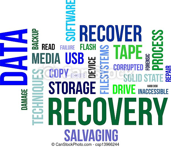 word cloud - data recovery - csp13966244