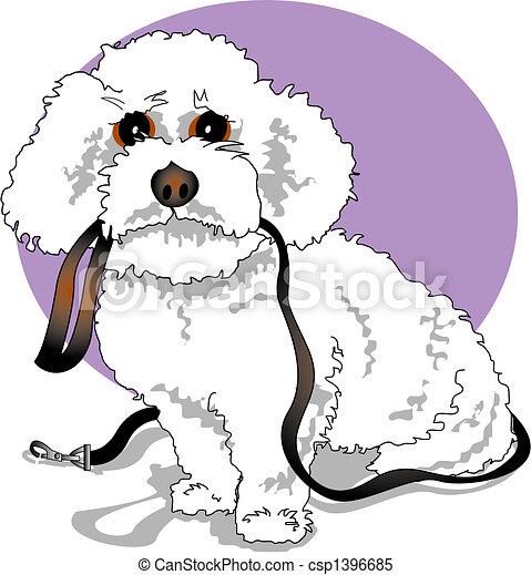 Clipart vettoriali di frise bichon barboncino progettista cane bichon csp1396685 - Dessin caniche ...