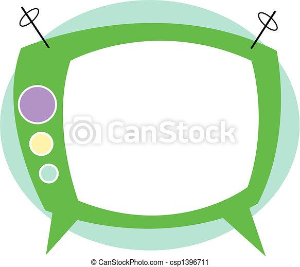 T.V. Television Retro Clip Art - csp1396711