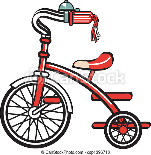 Bike Bicycle Trike Tricycle Clipart - csp1396718