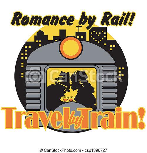 Retro Vintage Train Sign Clip Art - csp1396727