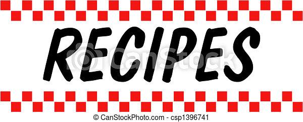 Recipe Baking Cooking Retro Vintage - csp1396741