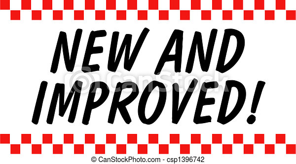 New And Improved Sign Clip Art - csp1396742