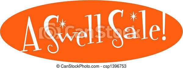 Retro Vintage Sale Discount Sign - csp1396753