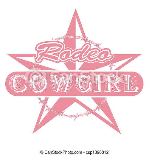 Rodeo cowgirl clip art - csp1396812