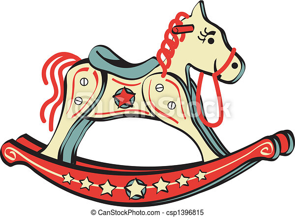 Rocking Horse Riding Toy Clip Art - csp1396815