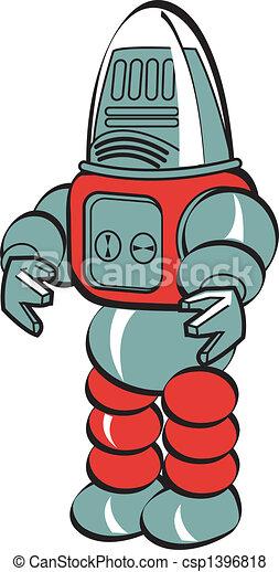 Robot Clip Art - csp1396818