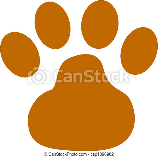 Dog Paw Clip Art - csp1396902