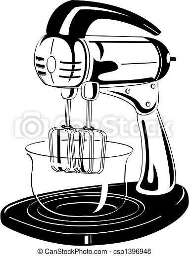 Kitchen Blender Vintage Clip Art - csp1396948