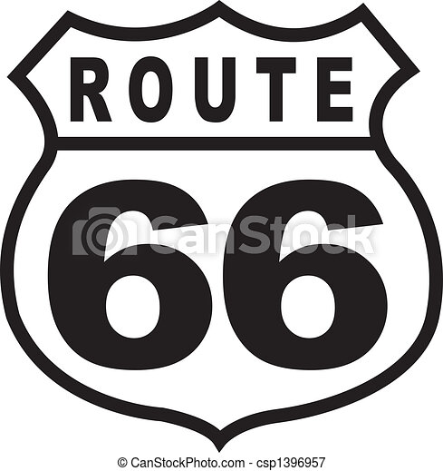 Route 66 Highway Sign Retro Vintage - csp1396957