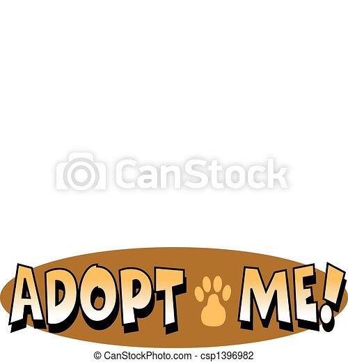 Pet Dog Adoption Sign Clip Art - csp1396982