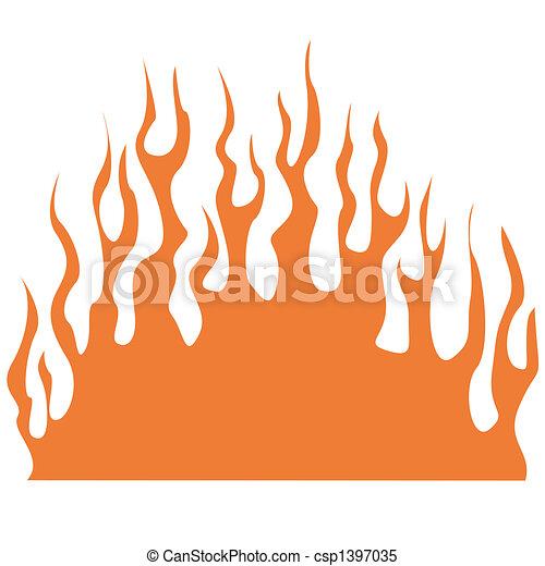 Flame clip art - csp1397035