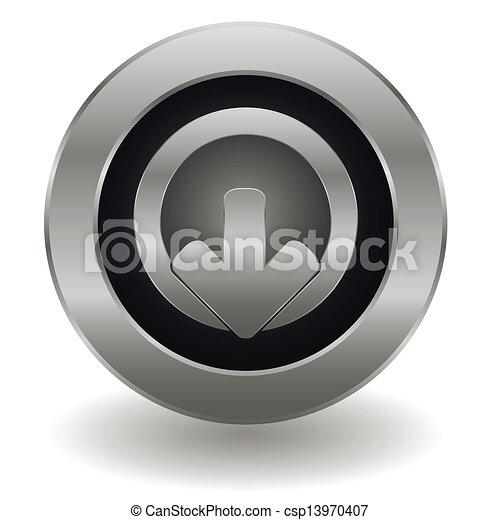 Logout Button Logo Metallic Logout Button