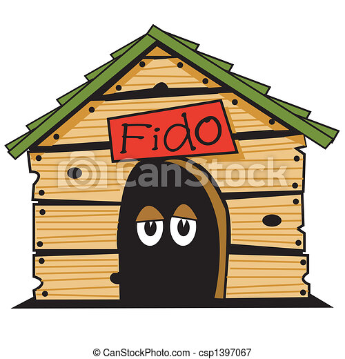 Dog house clip art graphic - csp1397067