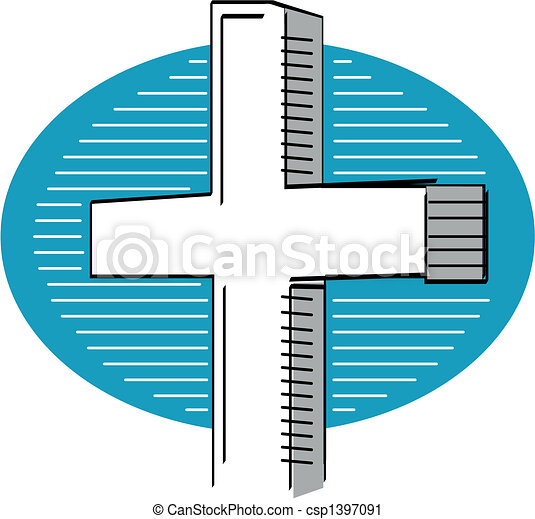 Easter holy cross religious graphic - csp1397091