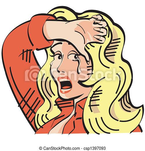 Pop Art Comic Book Woman Clip Art - csp1397093
