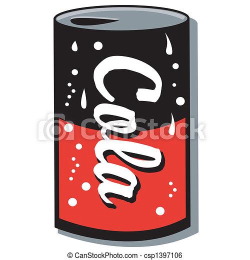 Cola Can Soda Can Pop Can Clip Art - csp1397106