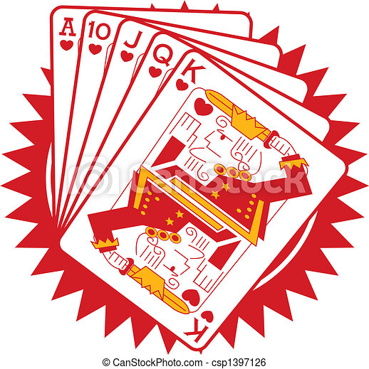 Poker Gambling Gaming Cards Graphic - csp1397126