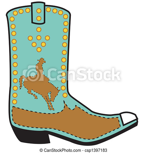 Western boot clip art - csp1397183