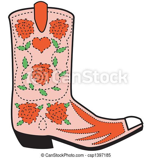 Western boot clip art - csp1397185