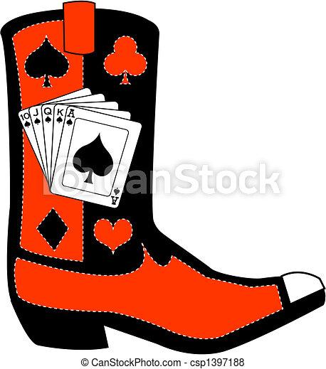 Western boot clip art - csp1397188