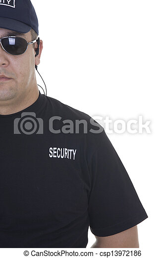 security guard isolated on white - csp13972186