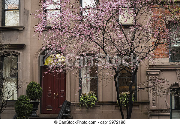 Apartment building, Manhattan, New York City - csp13972198