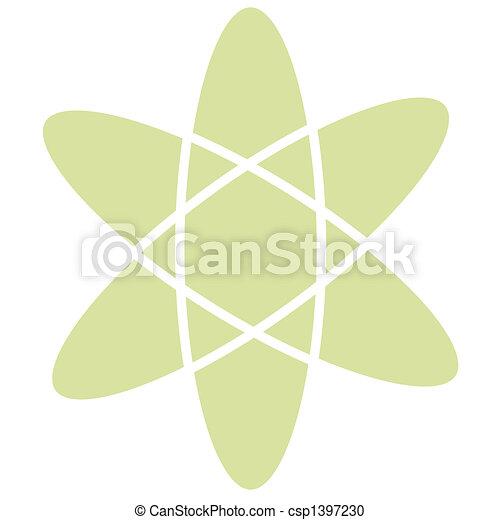 Atomic Atom Retro Vintage Clip Art - csp1397230
