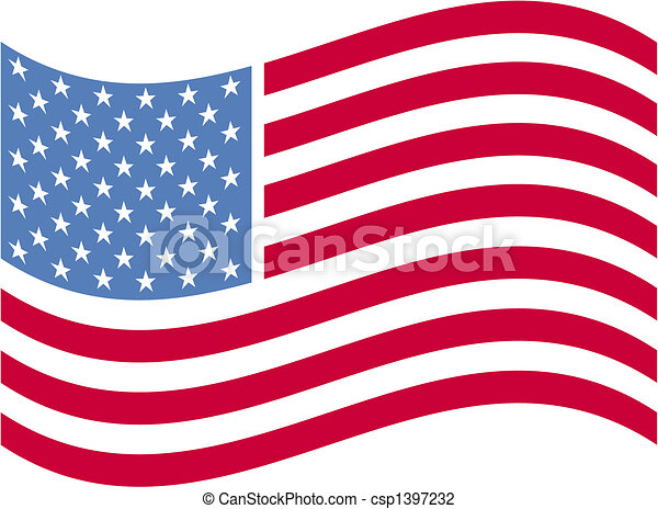 American flag clip art - csp1397232