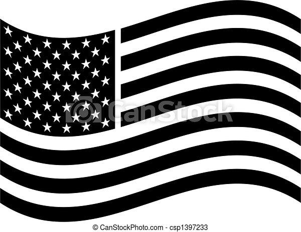 American flag clip art - csp1397233