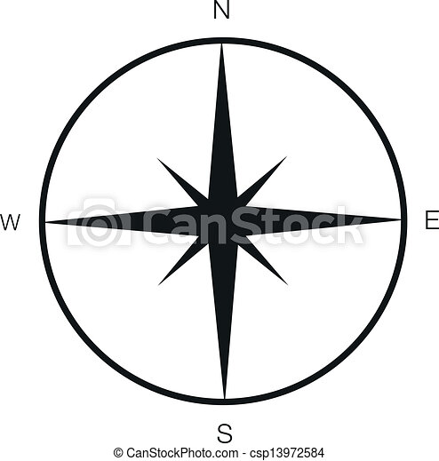 Art Simple Drawing Simple Compass Csp13972584