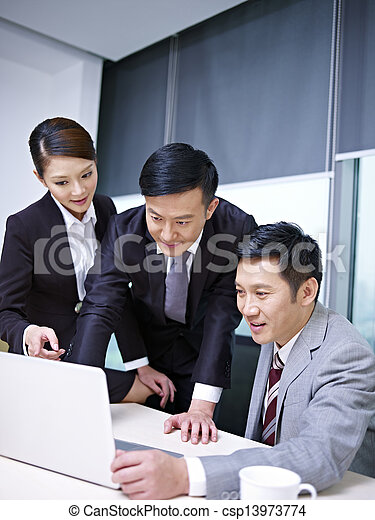asian business team - csp13973774