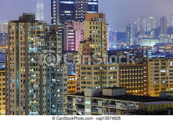 Residential building in Hong Kong - csp13974828