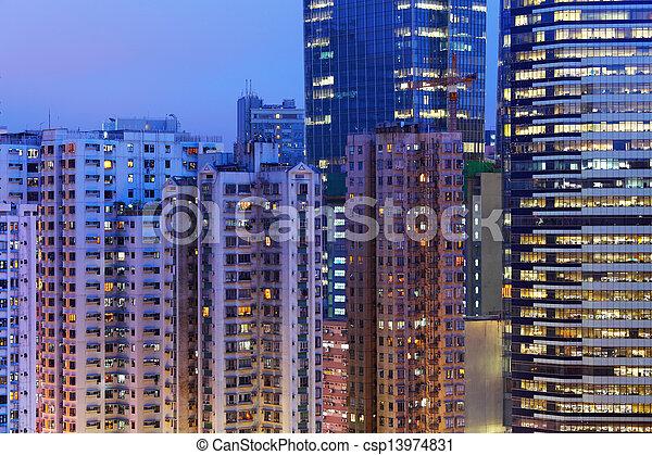 Residential building in Hong Kong  - csp13974831