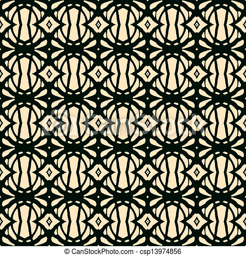 Seamless pattern in art deco style - csp13974856