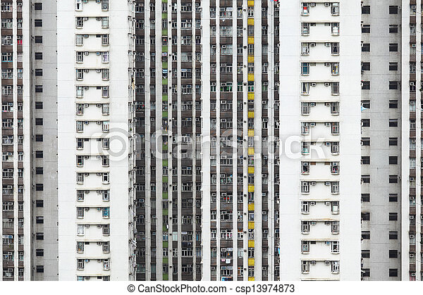 Residential building in Hong Kong  - csp13974873