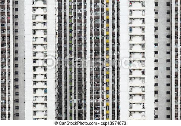 Residential building in Hong Kong - csp13974873