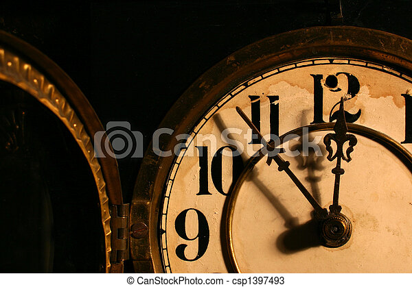 antique clock face - csp1397493