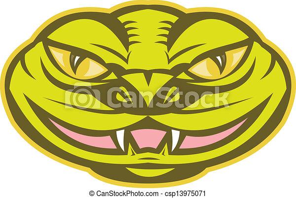 Vecteur vip re serpent serpent t te banque d 39 illustrations illustrations libres de - Dessin de vipere ...