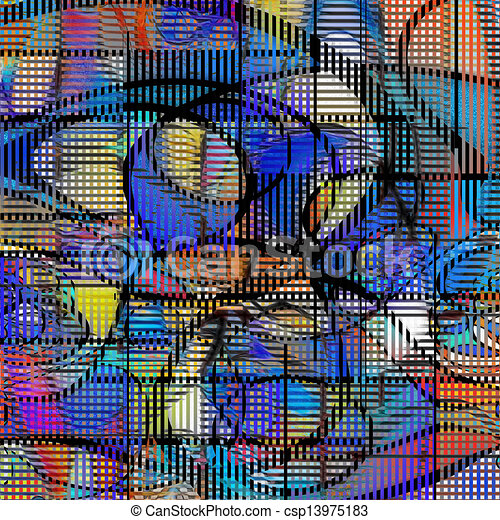 Modern art abstract - csp13975183