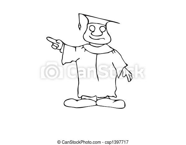 Happy Pointing Professor - csp1397717